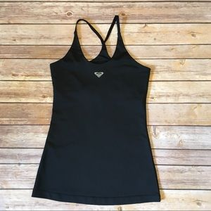 Roxy Athletix Black Workout Tank with Bra, Size S